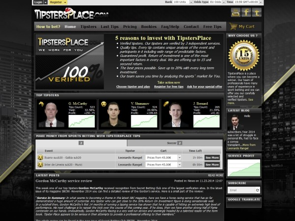 tipsters software - tipstersplace