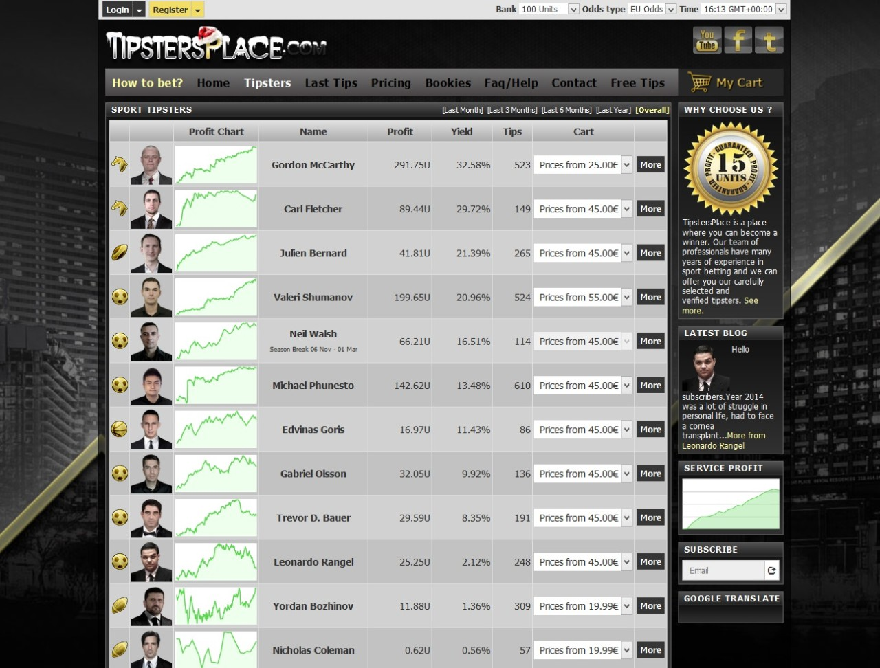 tipsters software - tipstersplace tipsters